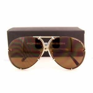 Porsche Design 63mm P8478 A Gold Brown Sunglasses